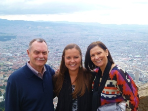 View from Monserrate over Bogota.